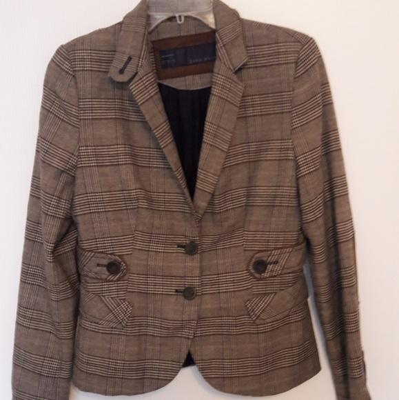 Zara Jackets & Blazers - ZARA Basic Plaid Equestrian Riding Jacket Coat